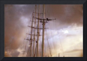 Four-masted schooner