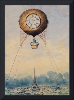 Captive Balloon with Clock Face by Camille Gravis