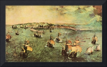 Port of Naples by Pieter Bruegel