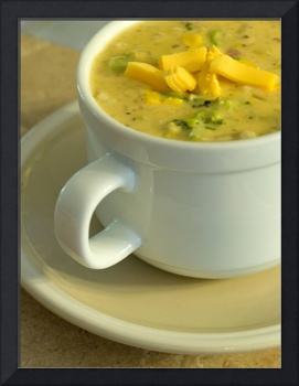 American Cheese and Broccoli soup