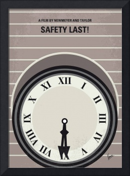 No1024 My Safety Last minimal movie poster