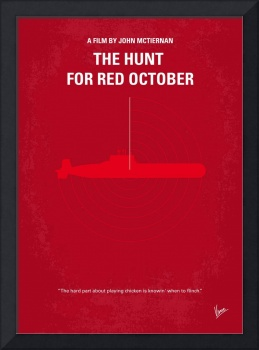 No198 My The Hunt for Red October minimal movie po