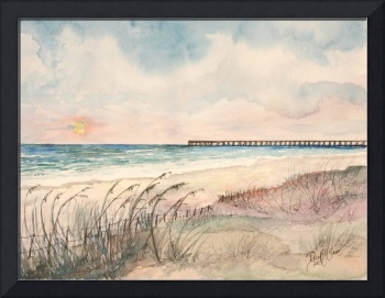 panama city beach pier art print