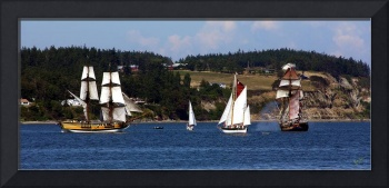Sailing Ships in Pen Cove