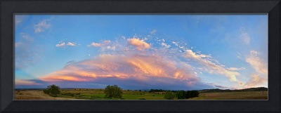 Storm Front Sunset Moon Longmont to Boulder CO Pan