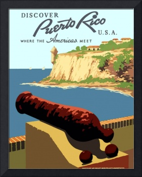 Vintage Discover Puerto Rico WPA Travel