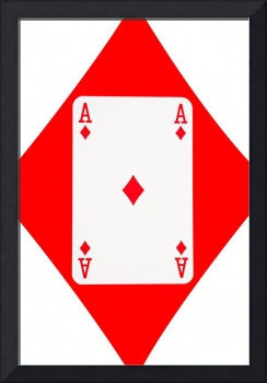 Playing Cards Ace of Diamonds on White Background