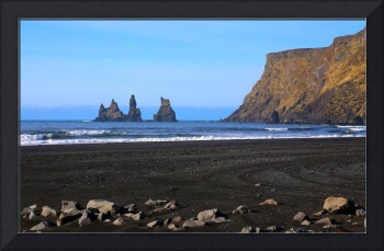 Reynisdrangar Stacks at Vik, Iceland