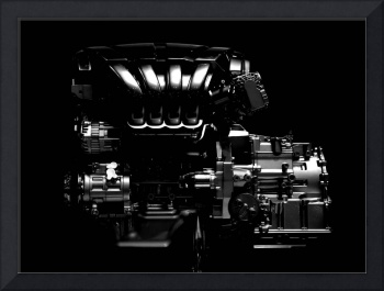 car engine abstract