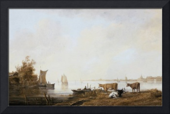 View of the Maas near Dordrecht, Aelbert Cuyp (Hol