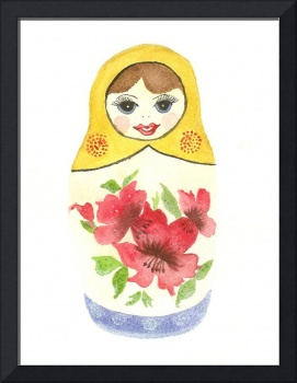 Russian Doll Yellow Top