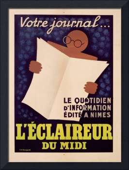 Poster advertising 'L'Eclaireur du Midi' newspaper