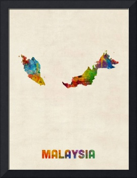 Malaysia Watercolor Map