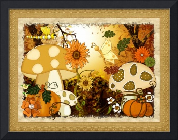 Shroom Whimsical Autumn Fantasy Art