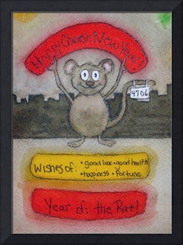 Whimsical Mouse Lunar New Year