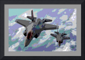 2 F 35s Enhanced small border