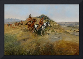 Buffalo Hunt, 1891 (oil on canvas)