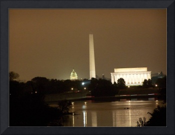 DC on a dreary night
