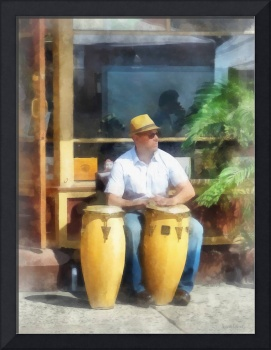 Musicians - Playing Bongos