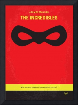 No368 My Incredibles minimal movie poster