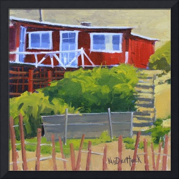 Ramshackle Cottage in Red