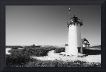 Black And White Lighthouse Photography