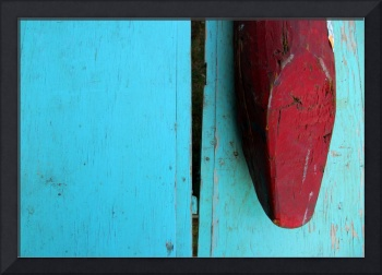 Blue and Red Abstract Photo