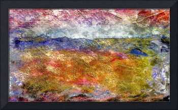 39a Abstract Landscape Sunset over Wildflower Mead