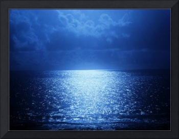 A Moon-Kissed Shimmering Sea