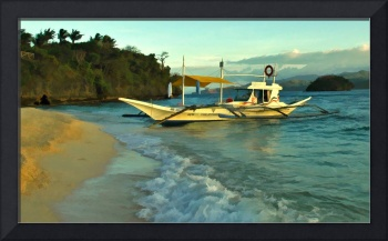 Beached Outrigger, Boracay Island, Philippines.