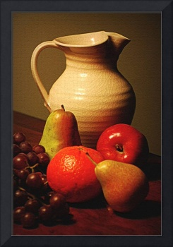 Pitcher and Fruit