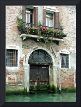 Rustic Venetian Canal Entrance