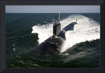 The Virginia-class attack submarine USS California