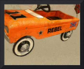 Rebel Pedal Car