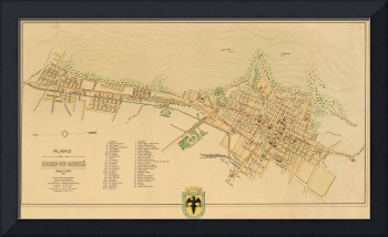 Vintage Map of Bogota Columbia (1911)