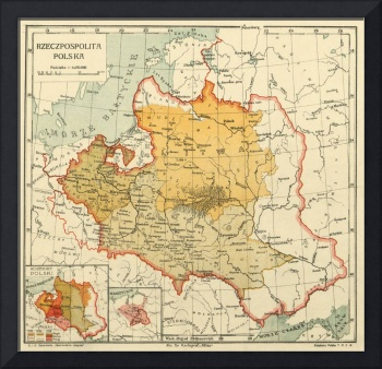 Vintage Map of Poland (1921)