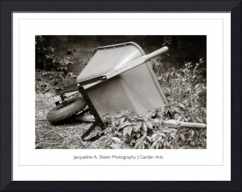 Wheel barrow framed