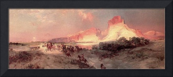 Green River Cliffs, Wyoming (1872) by Thomas Moran