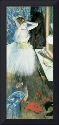 Dancer in her dressing room, c.1879 (pastel & pein