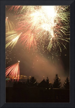 Fireworks at Christmas in Slovenia