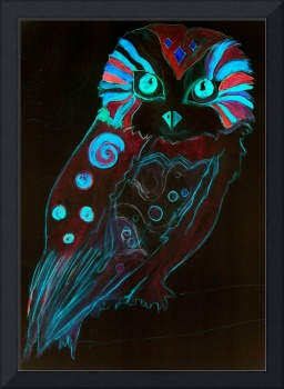 Night Owl - Lysergia - Psychedelic Poster Art 60s