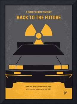 No183 My Back to the Future minimal movie poster
