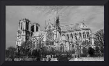 Notre Dam Paris in Black and White