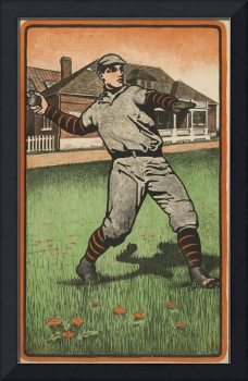 Vintage Baseball Outfielder Illustration (1903)