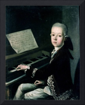 Portrait of Carl Graf Firmian at the piano