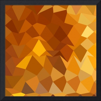 Gamboge Yellow Abstract Low Polygon Background
