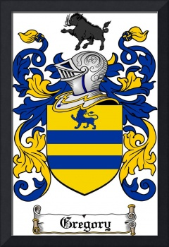 GREGORY FAMILY CREST - COAT OF ARMS