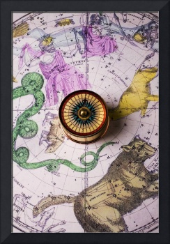 Star map and compass
