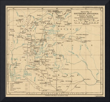 Vintage Map of Ethiopia (1919)