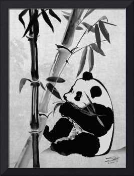 Giant Panda and Bamboo